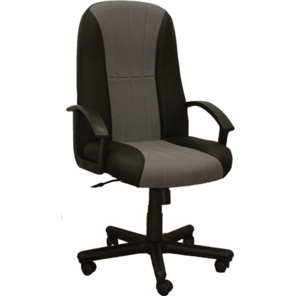 Офис стол Mexico - черно със сиво или кафяво с кафяво