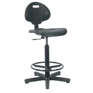 полиуретанов висок работен стол Negro