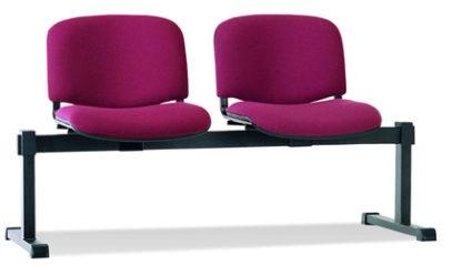 Посетителска офис пейка ISO 2 дамаска бордо
