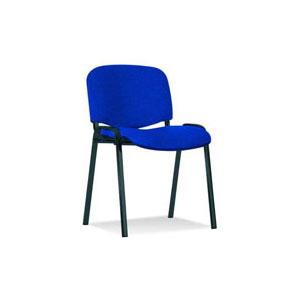 посетителски стол Iso Black синьо с черно пепит