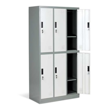 метален гардероб с 6 врати