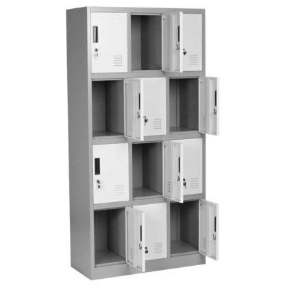 метален шкаф с 12 врати