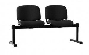 Посетителска офис пейка ISO 2 дамаска черно