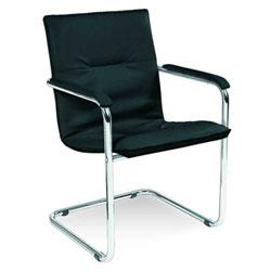 посетителски стол Rumba chrome черен
