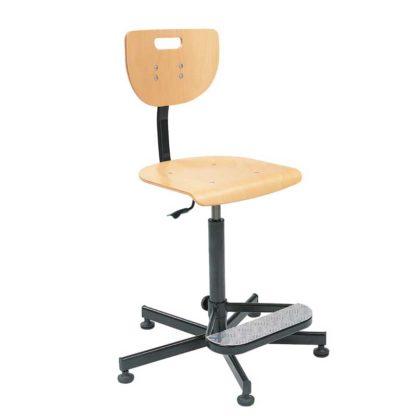 висок работен стол werek steel foot base