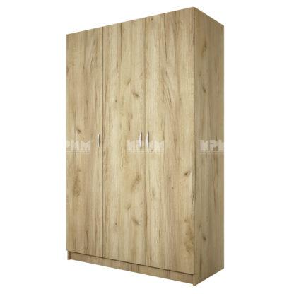 трикрилен гардероб Сити 1002 дъб гран сасо