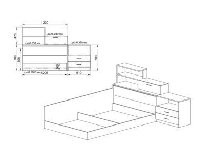 Спален комплект Сити 7032 - схема