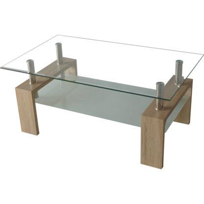 Холна маса MDF D-180 100/60/43h сонома с матирано долно стъкло
