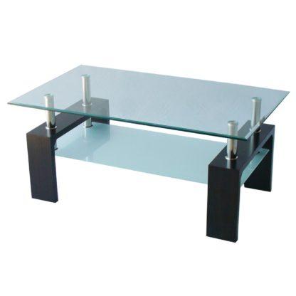 Холна маса MDF D-180 100/60/43h венге с матирано долно стъкло