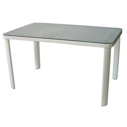 Ратанова маса 341-2 размер 140/90/75см - бяла