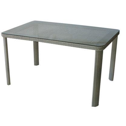 Ратанова маса 341-2 размер 140/90/75см - сиво-бежова