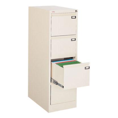 метален кардекс с 4 единични чекмеджета SZK 301