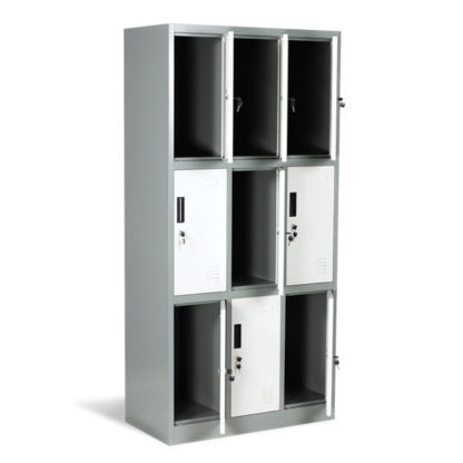 метален гардероб с 9 метални врати cr-1244-j-lux