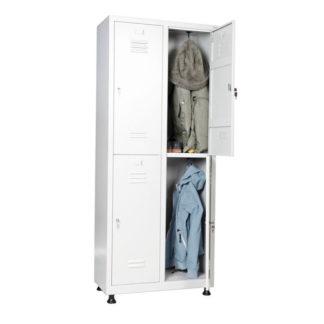 метален шкаф за дрехи за 4 души