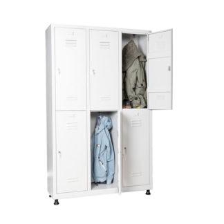 метален шкаф за дрехи за 6 души