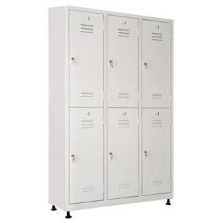 метален шкаф за дрехи за 6 души с наклонен покривметален шкаф за дрехи за 6 души с наклонен покрив