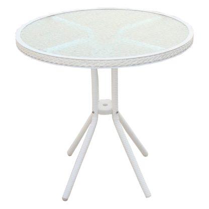 ратанова маса кръгла 4125В бяла