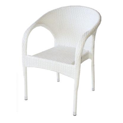 ратанов стол 290 бял