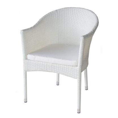 ратанов стол 350 бял