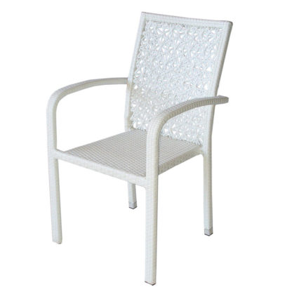 ратанов стол 59-2 бял