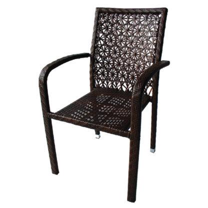 ратанов стол 59-2 кафяв