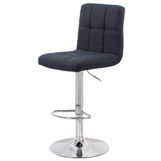 Бар стол Калипсо 12 черен текстил
