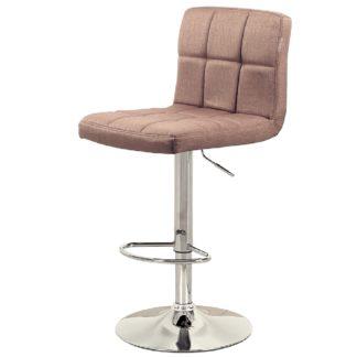 Бар стол Калипсо 12 светло кафяв текстил