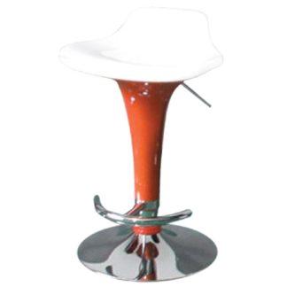 Бар стол Калипсо 6 бяла седалка - оранжев
