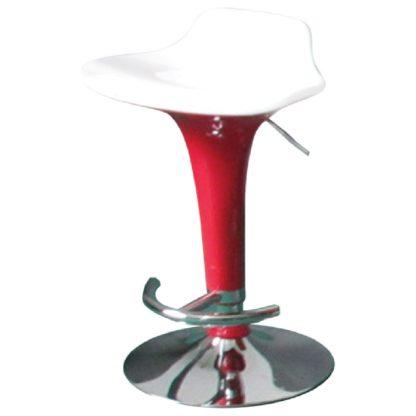 Бар стол Калипсо 6 бяла седалка - червен