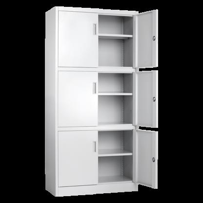 метален шкаф с 6 врати cr-1260-xz