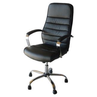 Офис стол 160 черна еко кожа
