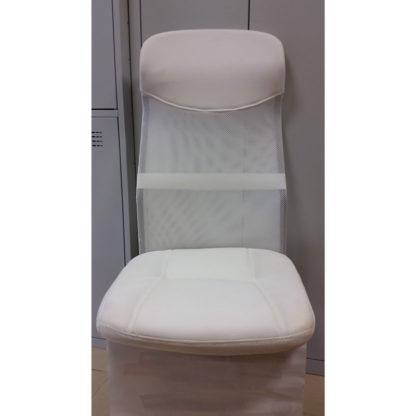 седалка и облегалка бяла мрежа и еко кожа