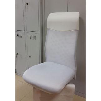 седалка и облегалка за офис стол - бяла мрежа
