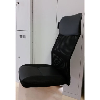 седалка и облегалка черна мрежа и еко кожа