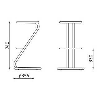 Бар стол Zeta размери