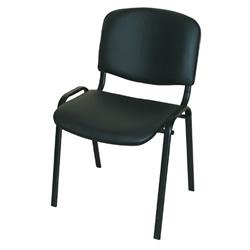 Посетителски стол Iso черна еко кожа