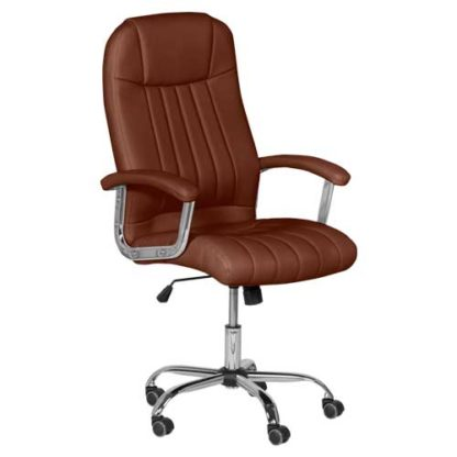 офис стол 6181 цвят кафяв
