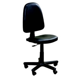 работен офис стол Prestige черна еко кожа