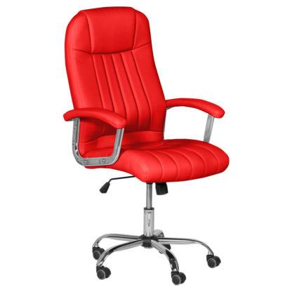 президентски офис стол 6181 цвят червено