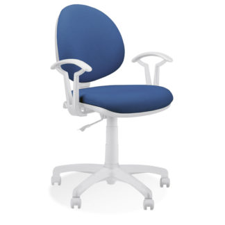 стол Smart white синя дамаска