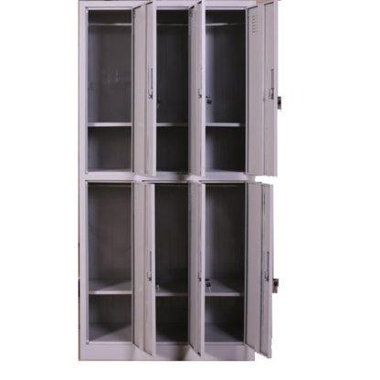 метален гардероб с 6 отделения