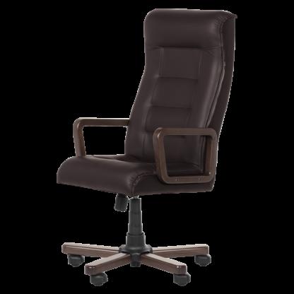 Офис стол Royal Wood - цвят тъмно кафяв LUX
