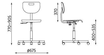 работен стол Werek Plus - размери