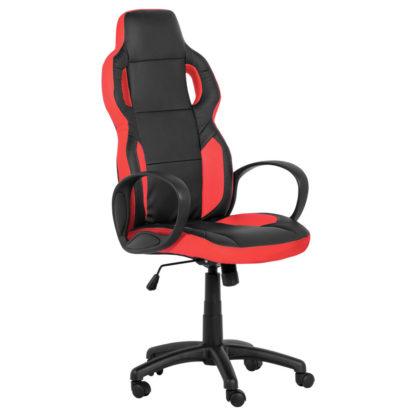 геймърски стол 7510 черно-червен офис стол