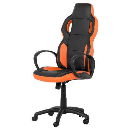 геймърски стол 7510 черно - оранжев офис стол