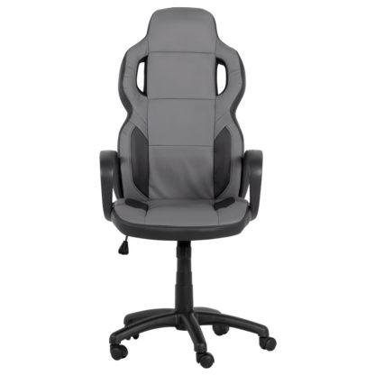 геймърски стол 7510 черно сив офис стол