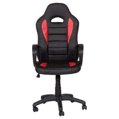 геймърски стол 7501 черно-червен офис стол