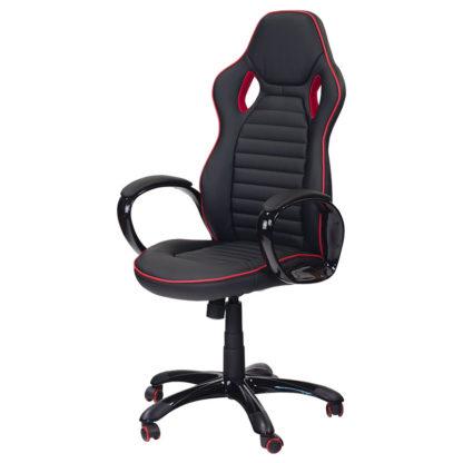 геймърски стол 7502 черно-червен