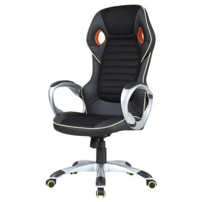 геймърски стол 7506 черно-зелен