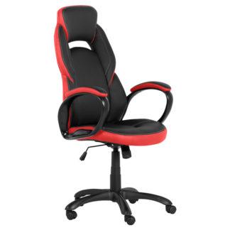 геймърски стол 7511 черно-червен офис стол
